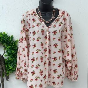 Madewell blouse. buttons work.size L .flower print